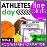 Line Plot Worksheets 2nd Grade   Sports Room Transformation