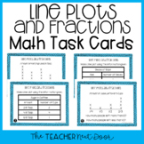 4th Grade Line Plots and Fractions Task Cards | Line Plots