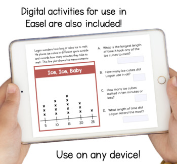Line Plots and Measurement Data Differentiated Activities