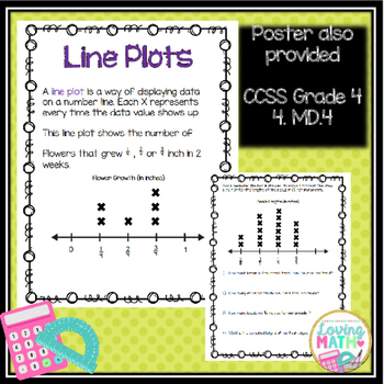 Line Plots with Fractions Printable Practice Problems