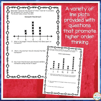 Line Plots with Fractions Bundle
