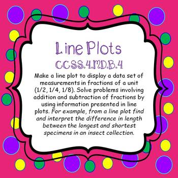 Line Plots - Create & Interpret Task Cards and  *NO PREP Worksheets*