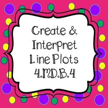 Line Plots - Create & Interpret Task Cards and  *NO PREP W