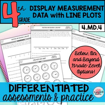 Line Plots Differentiated Assessments or Practice Sheets