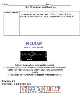 Line Plots Guided Notes
