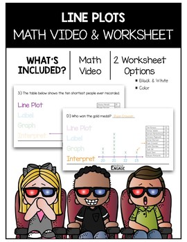 Line Plots Math Video and Worksheet