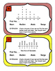 Line Plots Mean Median Mode Range Task Cards Data Analysis Charts