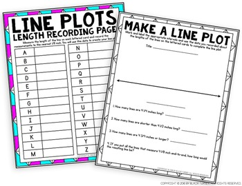 Line Plots Mini-Project: 4th Grade Math Centers 4.MD.4