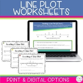 Line Plots Worksheets and Digital for Google Classroom | D