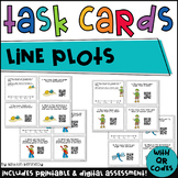 QR Code Task Cards: Line Plots {CC Aligned 4.MD.4}