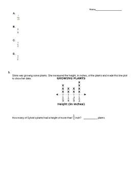 Line Plots Quiz (5MDB2)