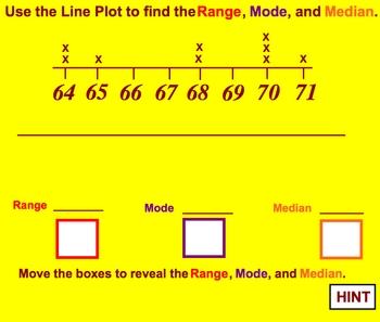 Line Plots Range, Median, and Mode Math Smartboard Lesson