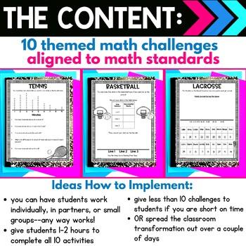 Line Plots  - Sports Athletes Real World Math Activity