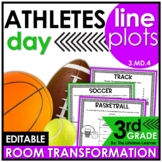 Line Plots  - Sports Athletes Real World Math Activity