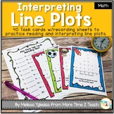 Graphing and Data: Line Plots Task Cards