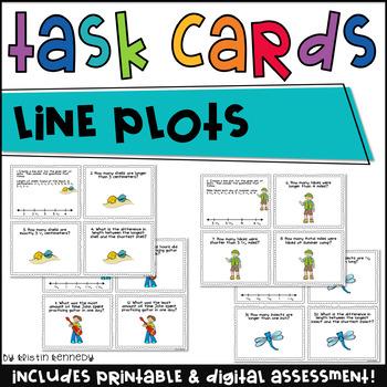 Line Plots Task Cards {CC Aligned 4.MD.4}