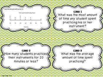 Line Plots Task Cards for Fifth Grade