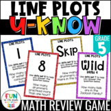 Line Plots Game: U-Know   Fraction Line Plots Review {5th Grade 5.MD.2}