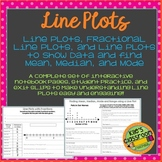 Line Plots, Fractional Line Plots, and Mean, Median, Mode -Activities And Notes