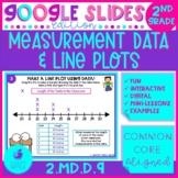 Line Plots and Measurement Data 2nd Grade Math Google Slides Distance Learning
