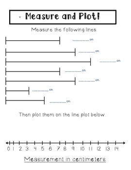 Line Plots and Measuring - Common Core aligned. 2.md.9