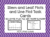 Line Plots and Stem and Leaf Plot Task Cards