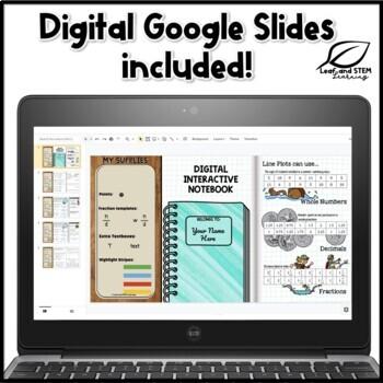 Line Plots or Dot Plots Interactive Math Notebook Set