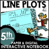 Line Plots or Dot Plots Interactive Notebook Set | Distanc