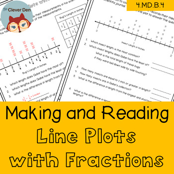 Line Plots with Fractions - 4.MD.B.4