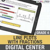 Line Plots with Fractions - 4th Grade Digital Interactive Math Center