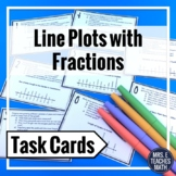 Line Plots with Fractions Comprehension Task Cards 4.MD.4