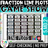 Line Plots with Fractions Game Show 5th Grade | Test Prep