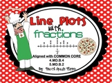 Line Plots with Fractions Math Center {4.MD.B.4 and 5.MD.B.2}