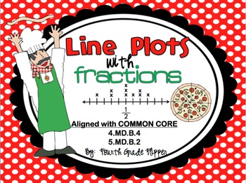 Line Plots with Fractions Math Center {Common Core 4.MD.B.