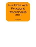 Line Plots with Fractions Worksheets 4.MD.4