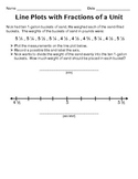 Line Plots with Fractions of a Unit #3