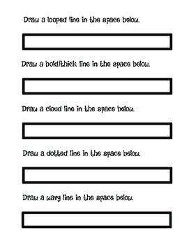 Line Poster with Line Worksheet