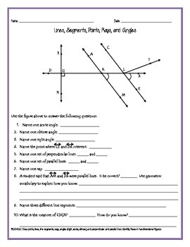 Line, Rays, and Angles