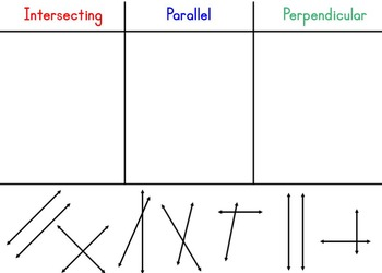 Line Relationships (Intersecting, Perpendicular, Parallel) Interactive Lesson