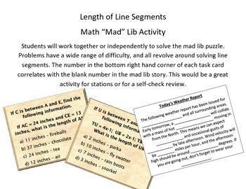 "Line Segment Math ""Mad"" Lib"