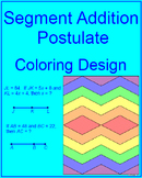 Line Segments - Segment Addition Postulate Coloring Activity #1