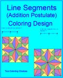 Line Segments - Segment Addition Postulate Coloring Activity # 2