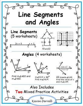 Line Segments and Angles (Congruence, Midpoints, and Bisectors) | TpT