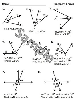 Line Segments and Angles (Congruence, Midpoints, and Bisectors)