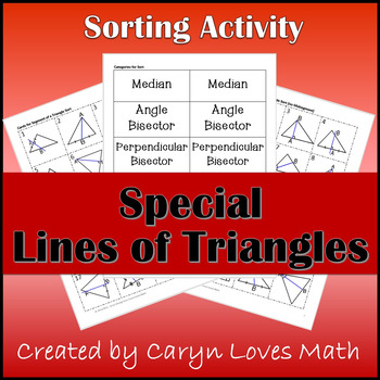 Special Line Segments of Triangle-Sorting Activity~Median~Altitude~Bisectors