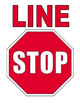 Line Stop Signs