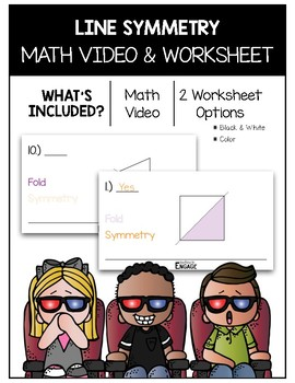 Line Symmetry Math Video and Worksheet