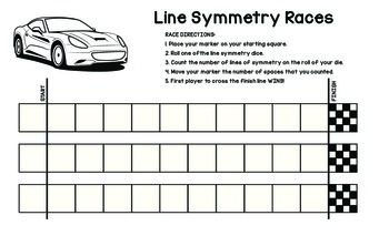 Line Symmetry Races