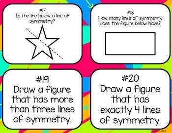 Line Symmetry Task Cards