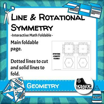Line Symmetry and Rotational Symmetry interactive notebook math foldable